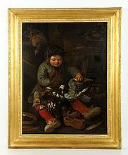 18th/19th C. Portrait of a Child, O/C