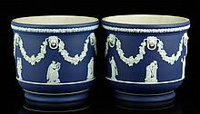 2 Wedgwood Jasperware Flower Pots