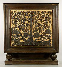 German Carved 2-Door Cabinet