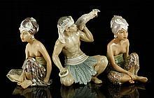 3 Dahl Jensen Copenhagen Porcelain Figures