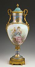 19th C. Signed Sevres Porcelain Urn