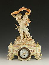 19th C. Meissen Figural Clock