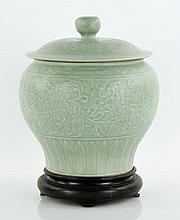 Chinese Celadon Covered Jar