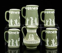 6 Wedgwood Jasperware Pitchers