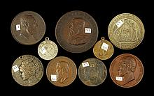 Lot of 9 19th C. Medals