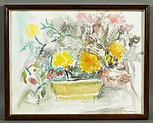 Bernstein, Floral Still Life, W/C