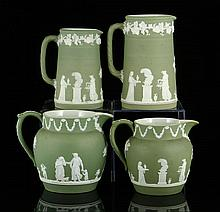 4 Wedgwood Jasperware Pitchers