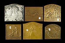Lot of 6 Art Medals