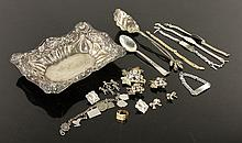 Lot of Gold and Silver Flatware, Hollowware and Jewelry