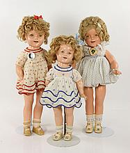 Lot of Three Shirley Temple Dolls