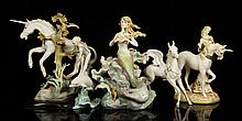 Lot of 5 Fantasy Cybis Figures, Porcelain