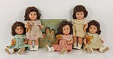 1937 Dionne Quints Dolls and Accessories
