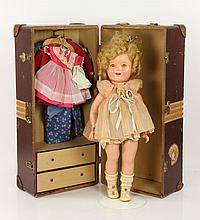 Shirley Temple Doll with Travel Trunk