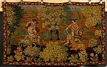 20th C. Needlework Tapestry