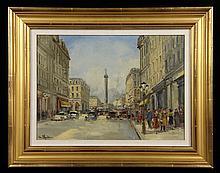 Blondin, Paris Street Scene, O/C