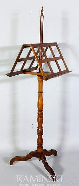 Mahogany Double Side Music Stand