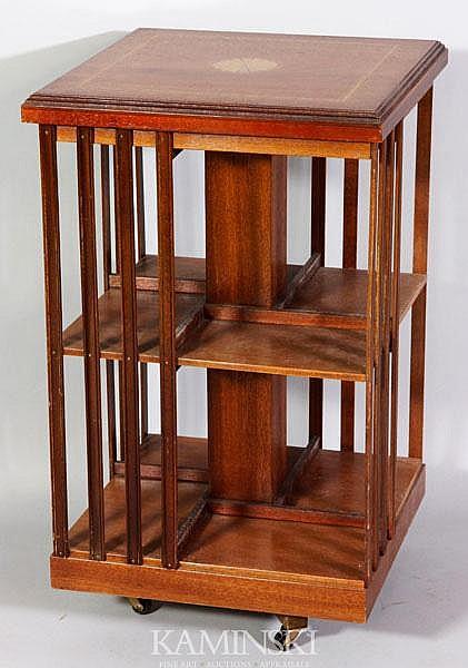 Revolving Mahogany Bookstand