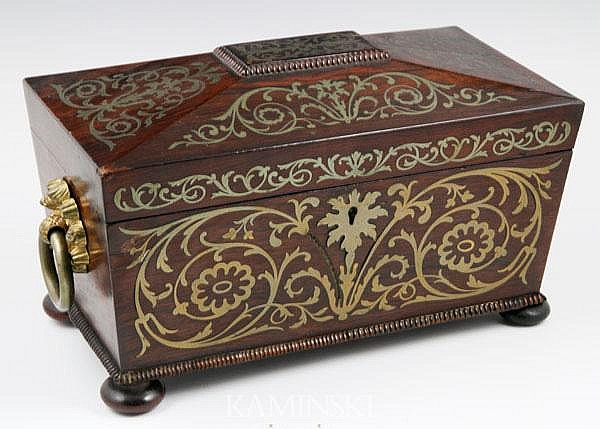 19th C. English Tea Caddy