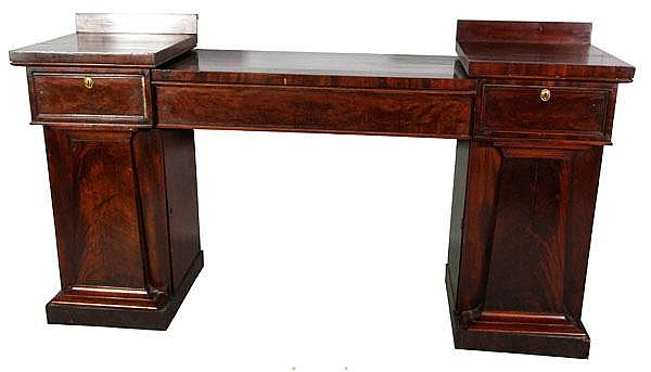 3 Piece Empire Mahogany Sideboard