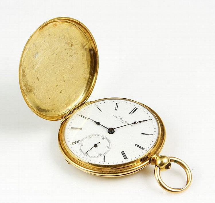 18K Gold Key Wind Pocket Watch