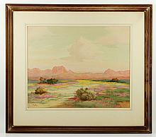 Richter, Desert Landscape, W/C