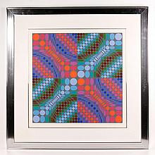 Vasarely, Optical Composition, Serigraph