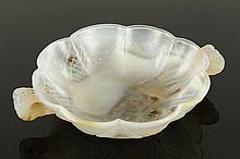 Carved White Jade Bowl