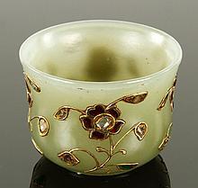 Mughal Jade Coupe Set with Diamonds