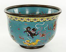 Chinese Cloisonne Fish Bowl