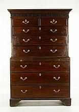Chippendale Mahogany Chest On Chest