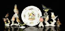Collection of Nine Porcelain Figures