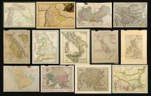 Collection of Fourteen Antique Maps