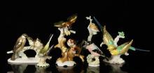Six Hutschenreuther Porcelain Bird Figures