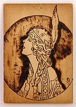 Wieghorst, Native American Woman, Pyrography