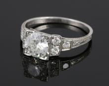 Ladies' Platinum and Diamond Ring