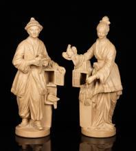 Pr. French Chalkware Figures