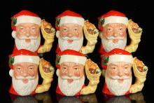 Set of Six Royal Doulton Christmas Mugs