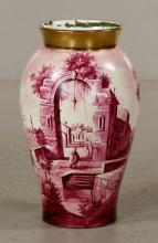 French Hand Painted Vase