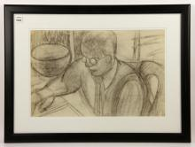 Sarti, Portrait of a Man, Charcoal