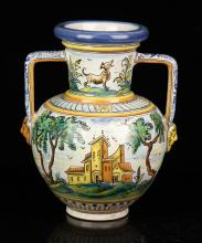 Spanish Polychrome Vase