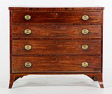 Early 19th C. American Hepplewhite Chest