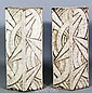 Pair Art Deco/Modern Architectural Bricks