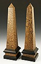 Pair Decorative Wood Obelisks