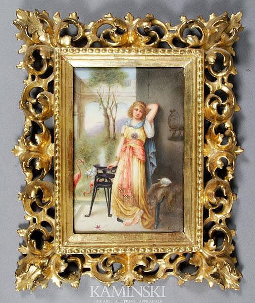 19th C. Italian Porcelain Plaque