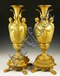 19th C. French Pair Bronze Urns