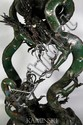 19th C. Chinese Bronze Dragon Lamp