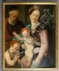 18th C., Portrait of Jesus, Mary, and Joseph, O/P