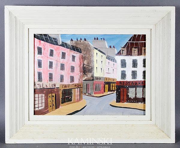 de Montfort, Shops Along Narrow Streets, W/C