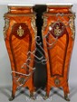 Pair French Style Marble Pedestals