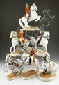 Set of 6 Vienna Porcelain Equestrian Figurines